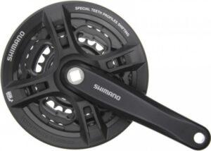 Шатуны Shimano FC-TY301, 42/34/24T 8/7/6 скоростей 170 мм черныеШатуны Shimano FC-TY301, 42/34/24T 8/7/6 скоростей 170 мм черные